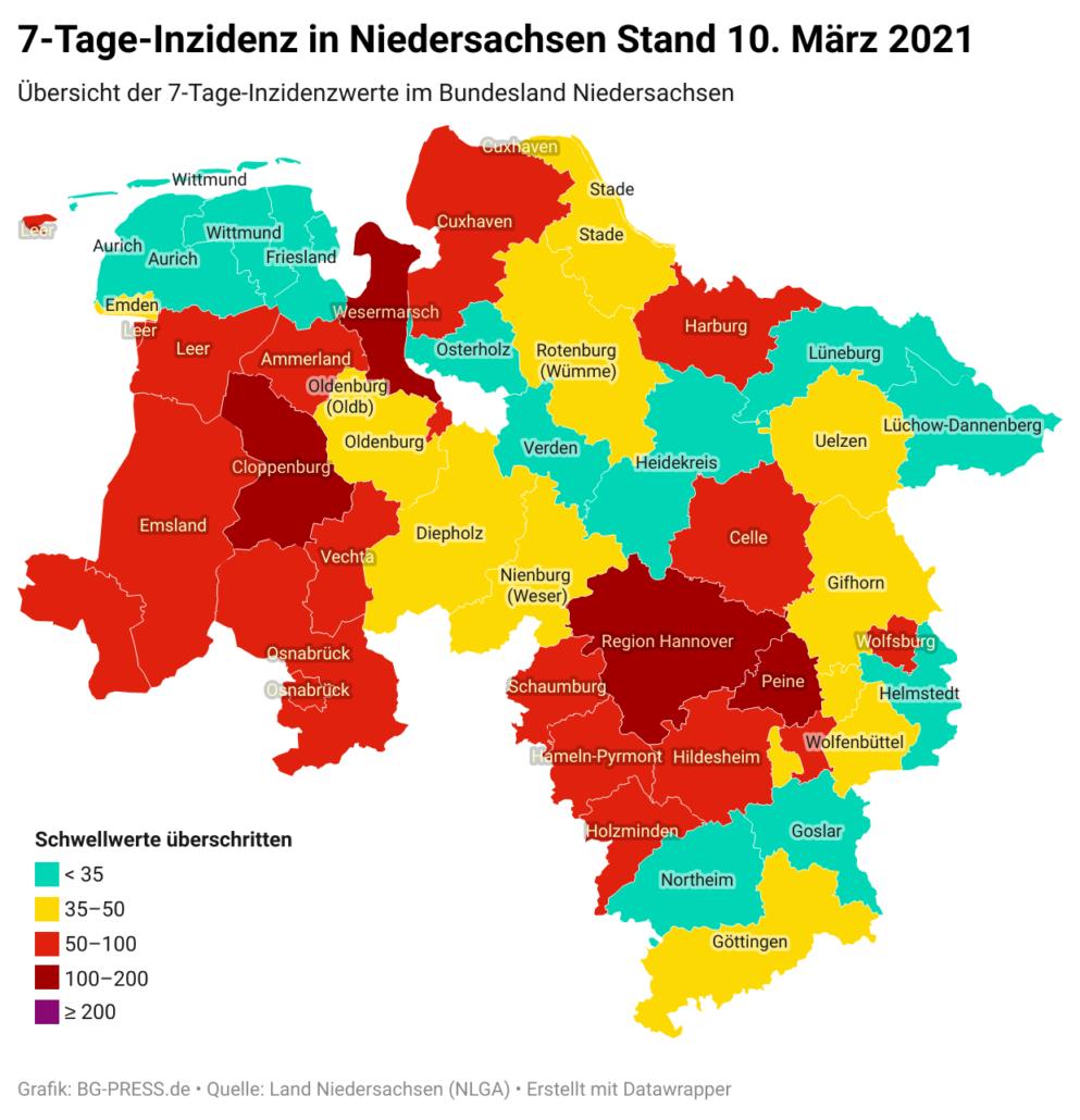 JOgNY 7 tage inzidenz in niedersachsen stand 10 m rz 2021 nbsp