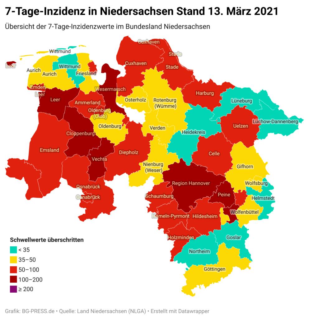 JOgNY 7 tage inzidenz in niedersachsen stand 13 m rz 2021 nbsp