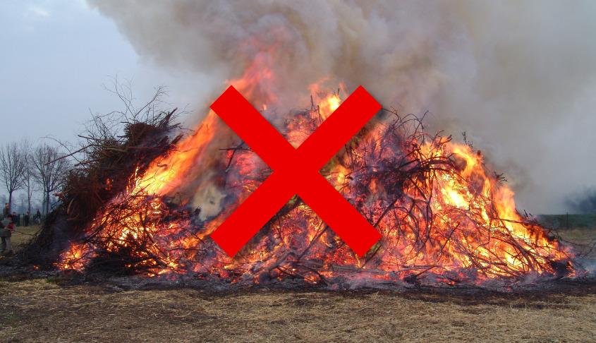 Kein Osterfeuer