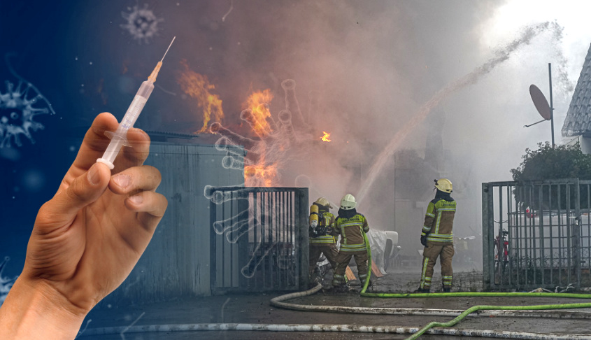 Impfen von Feuerwehrleuten