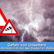 Unwetterwarnung per Video