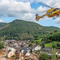 ADAC Luftrettung Hochwasser
