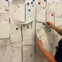 Jeder Zettel eine Einsatzstelle