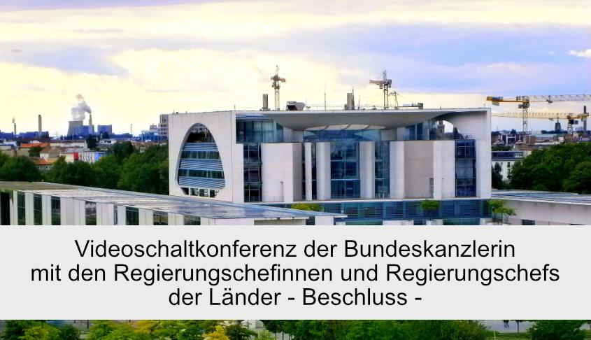 Videoschaltkonferenz Bundeskanzlerin
