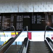 Anzeigetafel Flughafen Hannover